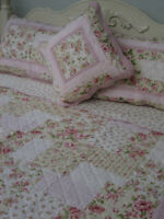 Tilly Single Bedspread by Linen 'n' Things Floral Patchwork | shabby chic style