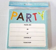 16 Boys Party Invitations 4 Designs Cardboard Kids Monkey Monster Owl Fox Monkeys