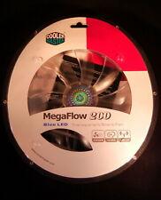 Cooler Master MegaFlow 200 Blue LED PC Case Cooling Fan 700 RPM 200mm * NEW *