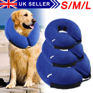 Inflatable Dog Puppy Cat Pet Collar Post Surgery Lampshade Cone Neck Injury Hot