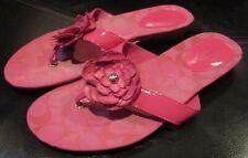 Coach Samira Jacquard Sig C Pink Thong Sandals Flip Flops 8B A8790