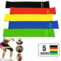 5er Set Resistance Fitnessbänder Expander Gymnastikband Yoga Widerstandsband