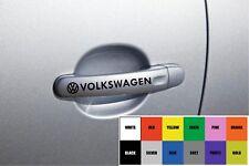 Per VOLKSWAGEN VW 4 x Maniglia della portiera auto decalcomania Sticker-POLO GOLF - 100mm lunga