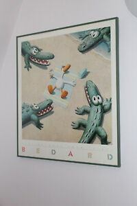 1987 MICHAEL BEDARD ' GETTING AWAY FROM IT ALL ' LARGE ART PRINT FRAMED 24'x26'