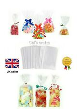 CLEAR CELLOPHANE CELLO DISPLAY BAGS FOR LOLLIPOPS, CAKE POPS, SWEETS PARTY