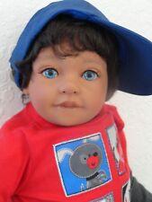 "Reborn 22"" Toddler Boy  Doll ""Dominic""-med. skin tone, ethnic"
