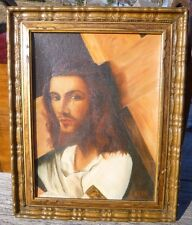 Original OIL Painting CHRIST Carrying CROSS Italian Renaissance Bellini Inspired