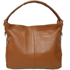 Leather Shoulder Bag BC229. 5 colors. Made in Italy.