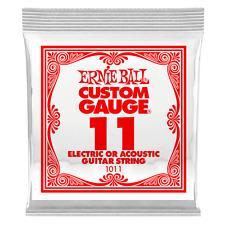 Ernie Ball .011 Plain Steel Electric or Acoustic Guitar String single 1011