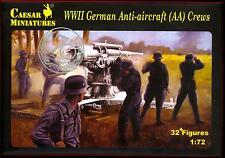 Caesar Miniatures 1/72 GERMAN WWII ANTI-AIRCRAFT (AA) CREWS Figure Set