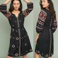 Anthropologie HENRIETTA EMBROIDERED PEASANT DRESS XS new NWT