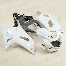Carrosserie Blanc Carénage Kit non Peint ABS pour Suzuki Gsxr 600/750 2001 2002