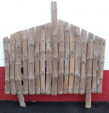 Vintage Large Natural Wood Rustic Adirondack Coat Rack