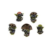 Kromlech BNIB Orc Cyber Pirates Heads (10)