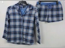 Cloth Stone Flannel Drawstring Jogger Pant Lounge Blue Plaid S Nwt $69 Other Women's Intimates