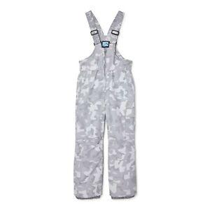 Iceburg Boys Gray Camouflage Nunu Snow Bib Pants Size 14-16 XL