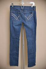 William Rast Sadie Slim & Straight Medium Dark Wash Denim Jeans Women's size 26