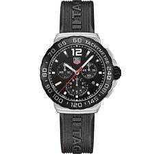 TAG Heuer Men's CAU1110.FT6024 Formula 1 Black Dial Black Strap Quartz Watch NWT