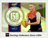 2015 AFL Champions Milestone Holofoil Card MG51 Bernie Vince (Melbourne)