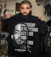 NIPSEY HUSSLE - OWNERSHIP IS EVERYTHING OWN YOUR MIND  BLACK T-SHIRT S-4XL AA261