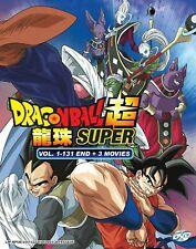 DVD Dragon Ball Super TV Series (Vol 1 - 131 End + 3 Movie) English Dubbed