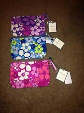 Vera Bradley Flower Shower Vintage Set Of Three Cosmetic Bags Nwt!