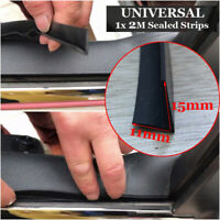 Car Door Sealed Strips Window Trim Edge Moulding Rubber Black Replacement Parts