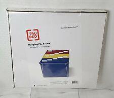 Tru Red Hanging File Frame Letter Size Steel With 12 Hanging Folders