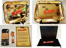 Rare Limited Edition 24K Gold Leaf 13.25x11.25 Raw Rolling Papers Tray & More