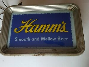 RARE Hamm's Hamms Smooth Mellow Beer 1940s Lighted Sign L@@K!