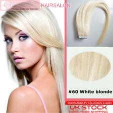 """Best AAAAA Grade 16""""-24"""" 100% Tape In Remy Human Hair Extensions 32 Colors USA"""