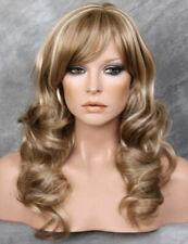 Long STRIKING WIG Carmel Blondes brown mix Layered Wavy SIDE PART WEBC 12/24/613