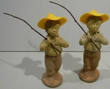 "Lot of 2 Avon Bottles - Little Boy - ""Catch-A-Fish""  - Very Nice - VINTAGE"