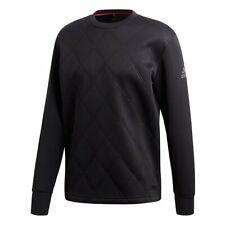 ADIDAS Men`s Barricade Crew Sweatshirt Medium Black CD3269