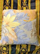 VERSACE  PILLOW CUSHION FLOWERS with 2 sides RARE BEST DISCOUNT PRICE SALE