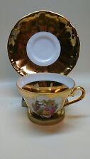 22 Kt.Gold On Porcelain Germany Bavaria RZB Teacup saucer
