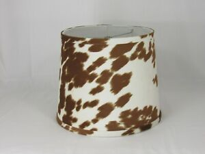 "Bronze Faux Cowhide Shade,Hardback, 14"" Washer Fitter"