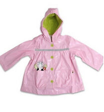 Baby Girl Rain Jacket 3T Toddler TINY TILLIA by Avon Coat Hooded Pink Cow New