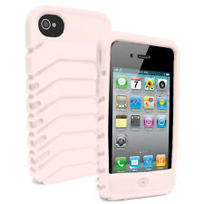 Shockproof Silicone Case Soft Gel Rubber Grip Cover For Apple iPhone 4 4S 5 5S