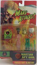 Marte Ataca! de Colección 1997 hablando Alien Figura Marciano Spy girl Sellado Moc Mib