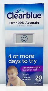 Clearblue Advanced Digital Ovulation More Accurate 20 Tests (2) Months 12/2023+