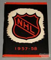 Original 1957-58 NHL Official Media Guide