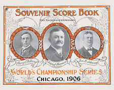 1906 World Series Poster (White Sox vs Cubs) Poster of Score Card - 8x10 Photo