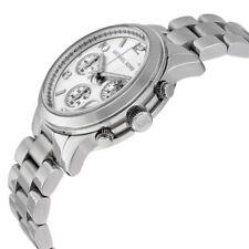 Michael Kors MK5076 Unisex Silver-Tone Chronograph Runway Designer Watch
