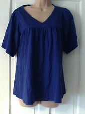 BLUE  SHORT SLEEVED TOP, SIZE 14