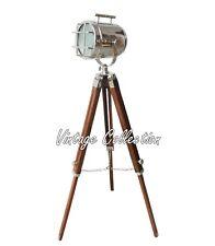 Vintage Nautical Antique Tripod Floor Lamp Search Spotlight Collectible Decor