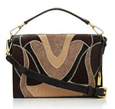 Foley & Corinna Black Leather Patchwork Letter Bag Nwt ~ Msrp $495