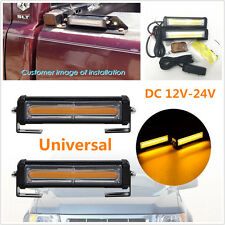 Car Pickup 36W COB LED Amber Emergency Strobe Light Lamp Wireless Remote Control