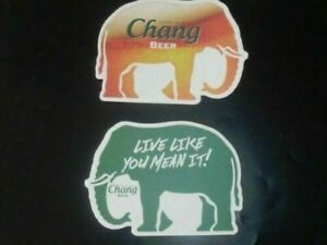 """1 pc. of Chang beer Elephant shape """"Grab Life By The Tusks"""" Coaster Beer Mat #37"""