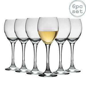 White Wine Glasses Drinking Glass Set, 245ml (8.6oz) - Box of 6